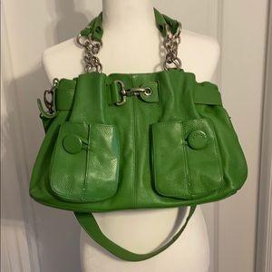 Gorgeous Bodhi green leather handbag